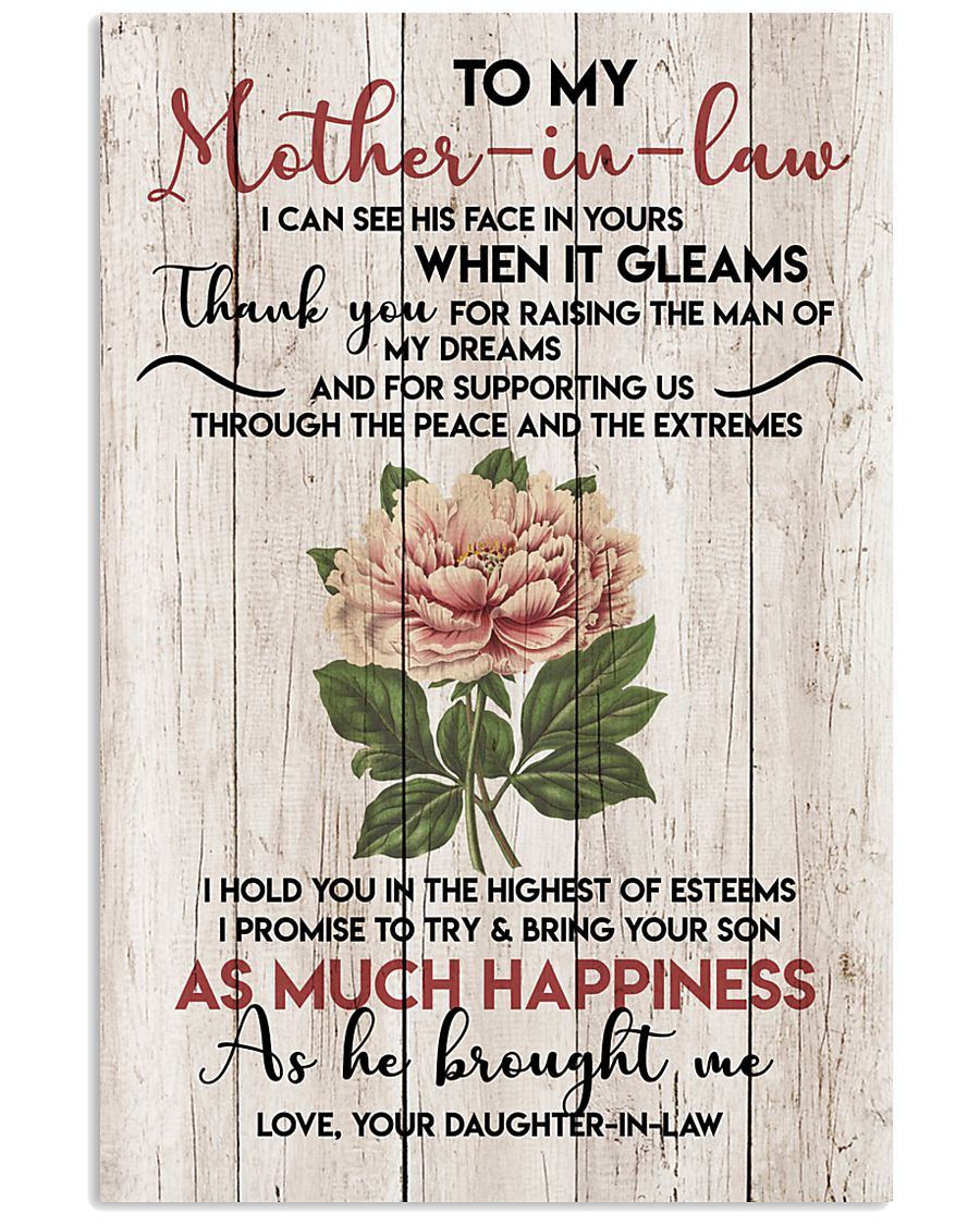 TO MY MOTHER-IN-LAW - FLOWER - THANK YOU 16x24 Poster