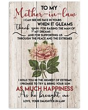 TO MY MOTHER-IN-LAW - FLOWER - THANK YOU 16x24 Poster front