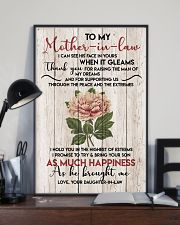 TO MY MOTHER-IN-LAW - FLOWER - THANK YOU 16x24 Poster lifestyle-poster-2