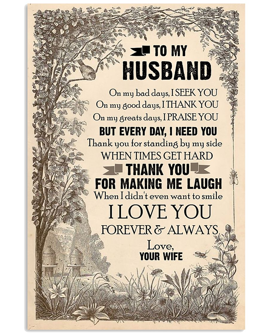 TO MY HUSBAND - LOVE HOUSE - I LOVE YOU 16x24 Poster