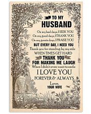 TO MY HUSBAND - LOVE HOUSE - I LOVE YOU 16x24 Poster front