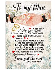 TO MY MAN 16x24 Poster front