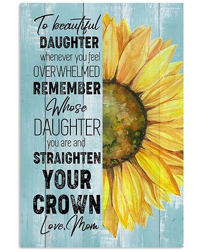 TO MY DAUGHTER - SUNFLOWER - CROWN