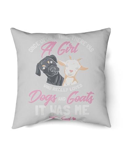 Once Upon Time Girl Love Dog And Goats T-Shirt