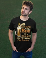 There's a 999 Chance I Need a Beer Classic T-Shirt apparel-classic-tshirt-lifestyle-front-43