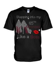 Stepping Into My 65TH Birthday Women High Heel V-Neck T-Shirt thumbnail