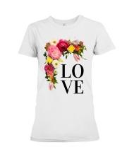 Love Flowers  Premium Fit Ladies Tee thumbnail