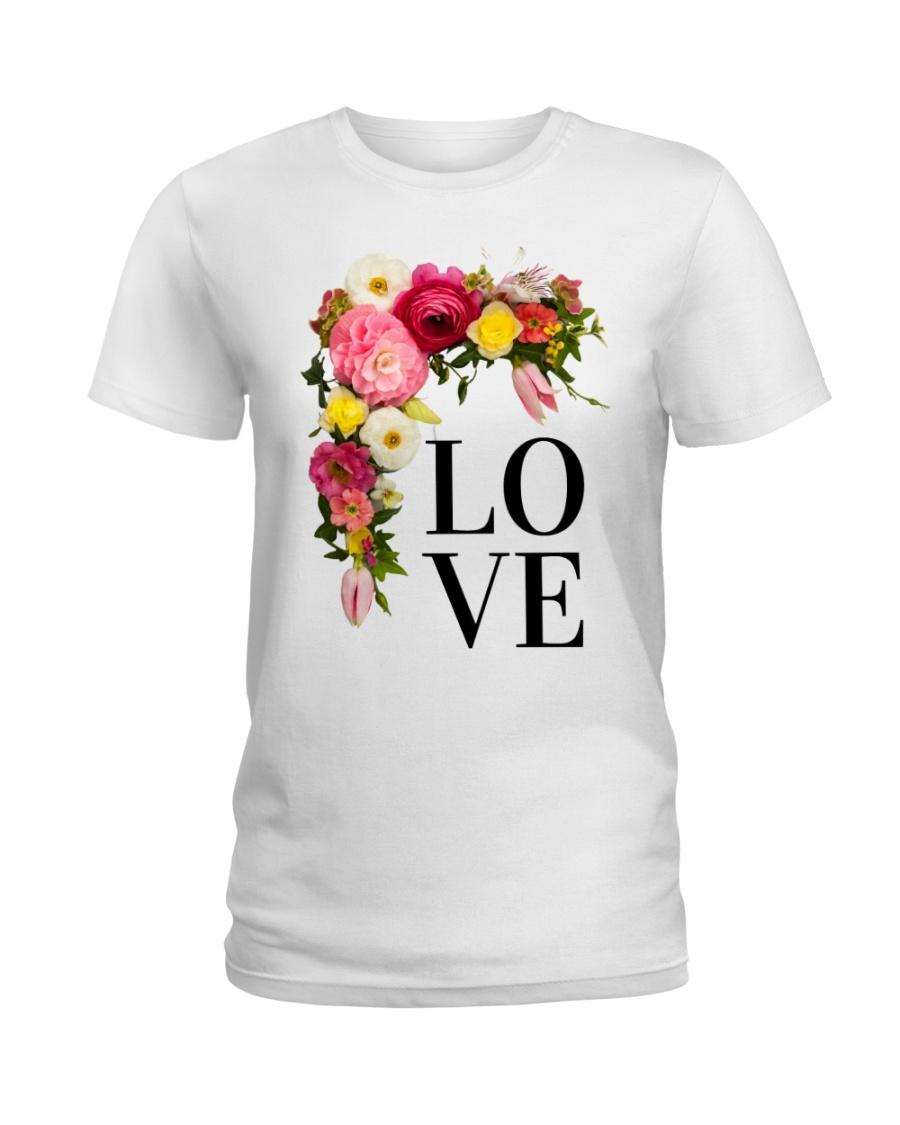 Love Flowers  Ladies T-Shirt