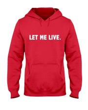 SUPER QUOTES - LET ME LIVE wh Hooded Sweatshirt thumbnail