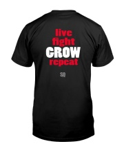 SUPER QUOTES - Fight to Grow drk Premium Fit Mens Tee back