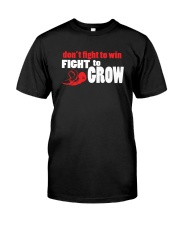SUPER QUOTES - Fight to Grow drk Premium Fit Mens Tee front