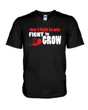SUPER QUOTES - Fight to Grow drk V-Neck T-Shirt thumbnail