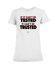SUPER QUOTES - Can't be Trusted Premium Fit Ladies Tee thumbnail