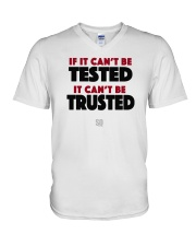 SUPER QUOTES - Can't be Trusted V-Neck T-Shirt thumbnail