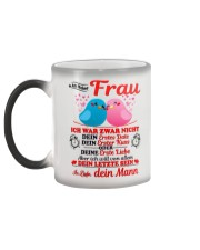 AN MEINE FRAU - DEIN MANN Color Changing Mug color-changing-left