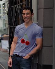 I am so tasty nature shirt V-Neck T-Shirt lifestyle-mens-vneck-front-1