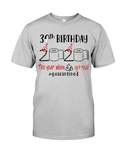30th Birthday 1990 - Toilet Paper Quarantined