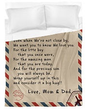 To our Son - Love  Mom and Dad  - v1 Duvet Cover - Twin XL thumbnail
