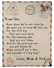 To our Son - Love  Mom and Dad  - v1 Fleece Blanket tile