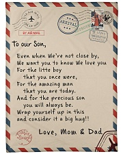 "To our Son - Love  Mom and Dad  - v1 Large Fleece Blanket - 60"" x 80"" front"