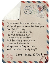 "To our Son - Love  Mom and Dad  - v1 Large Sherpa Fleece Blanket - 60"" x 80"" thumbnail"