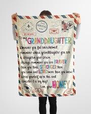 "Love Honey - GD v2BL Small Fleece Blanket - 30"" x 40"" aos-coral-fleece-blanket-30x40-lifestyle-front-14"