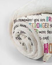 "Love Honey - GD v2BL Small Fleece Blanket - 30"" x 40"" aos-coral-fleece-blanket-30x40-lifestyle-front-18"