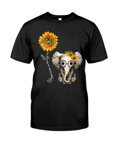 Happiness is being an Aunt J - Sunflower Elephant