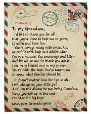 To my Grandma - Granddaughter Loving Letter Fleece Blanket tile
