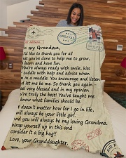 "To my Grandma - Granddaughter Loving Letter Large Fleece Blanket - 60"" x 80"" aos-coral-fleece-blanket-60x80-lifestyle-front-04"