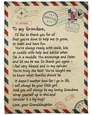 """To my Grandma - Granddaughter Loving Letter Large Fleece Blanket - 60"""" x 80"""" front"""