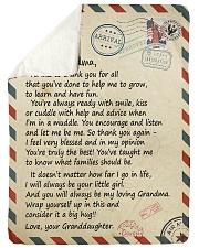 """To my Grandma - Granddaughter Loving Letter Large Sherpa Fleece Blanket - 60"""" x 80"""" thumbnail"""