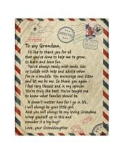 To my Grandma - Granddaughter Loving Letter Quilt tile