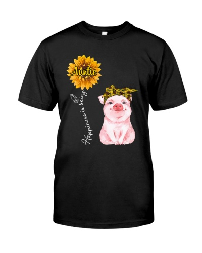 Happiness is being Auntie - cute Pig v2
