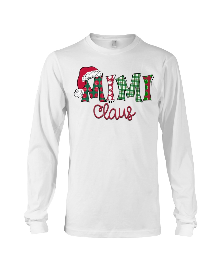 Mimi Claus Christmas Art Long Sleeve Tee