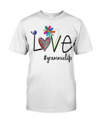 Love Grammie Life - Colorful Heart