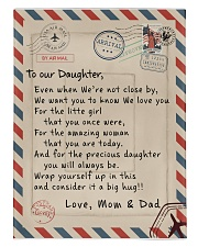 To our Daughter - Love Mom and Dad  - v1 Comforter - Twin XL thumbnail