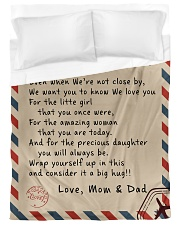 To our Daughter - Love Mom and Dad  - v1 Duvet Cover - Twin XL thumbnail