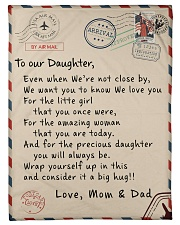 To our Daughter - Love Mom and Dad  - v1 Fleece Blanket tile