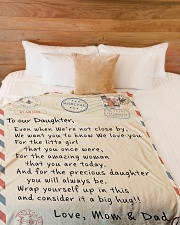 """To our Daughter - Love Mom and Dad  - v1 Large Fleece Blanket - 60"""" x 80"""" aos-coral-fleece-blanket-60x80-lifestyle-front-02"""