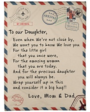 """To our Daughter - Love Mom and Dad  - v1 Large Fleece Blanket - 60"""" x 80"""" front"""