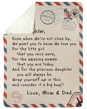 """To our Daughter - Love Mom and Dad  - v1 Large Sherpa Fleece Blanket - 60"""" x 80"""" thumbnail"""