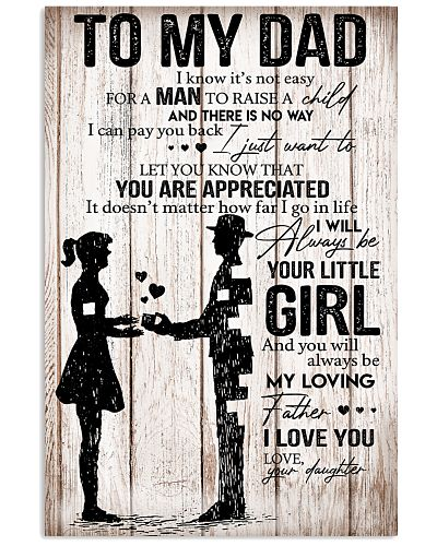 TO MY DAD - DAUGHTER POSTER