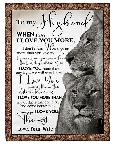 To my Husband - Lions Edition