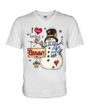 I LOVE BEING A GRAMMY - Christmas Gift V-Neck T-Shirt thumbnail