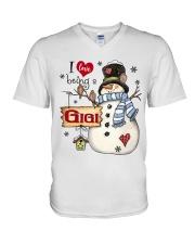 I LOVE BEING A GIGI - Christmas Gift V-Neck T-Shirt thumbnail