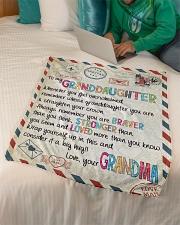 "Love Grandma - GD v2BL Small Fleece Blanket - 30"" x 40"" aos-coral-fleece-blanket-30x40-lifestyle-front-07"