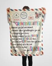 "Love Grandma - GD v2BL Small Fleece Blanket - 30"" x 40"" aos-coral-fleece-blanket-30x40-lifestyle-front-14"