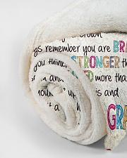 "Love Grandma - GD v2BL Small Fleece Blanket - 30"" x 40"" aos-coral-fleece-blanket-30x40-lifestyle-front-18"
