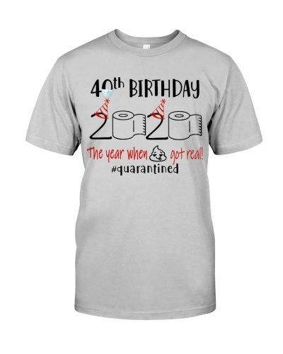 40th Birthday 1980 - Toilet Paper Quarantined